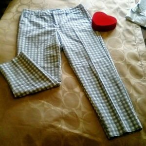 OLD NAVY HARPER Checkered Ankle Pant, 8